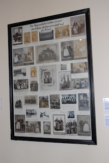 Photo Collage, Museum Katarina Gärtz/Huber and family in upper right hand corner. Close up below right.