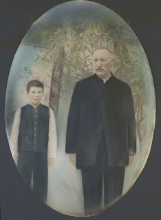 Father and Son, both Samuel Ebner ~ 1902-05.  My grandmother, Lisi's, brother and father.