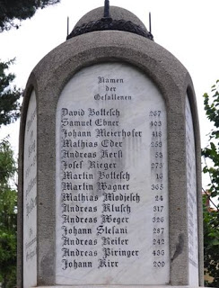 """""""Names of the Fallen"""" Samuel Ebner #402, 2nd from top"""