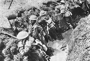 World War I trench warfare photo credit: www.anunews.net/blog