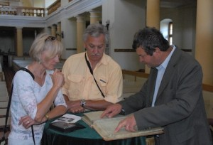 Grosspold Church's Family Book shown to brother Bill and me by Pastor Meitert