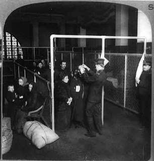 Eye Inspection at Ellis Island ~1913 Library of Congress Prints and Photographs Division