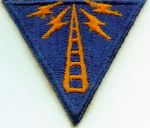 Army Air Corps Radio School sleeve patch-given to each student