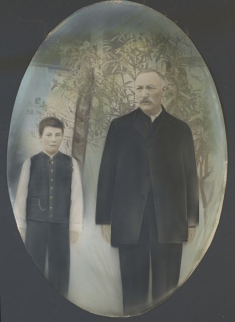 photo of a young boy, who later died in WWI, and his father, about 1903 in Transylvania