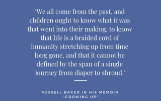 growing up russell baker plot summary