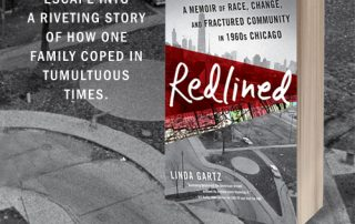 "Image of book, ""Redlined"" with words:"
